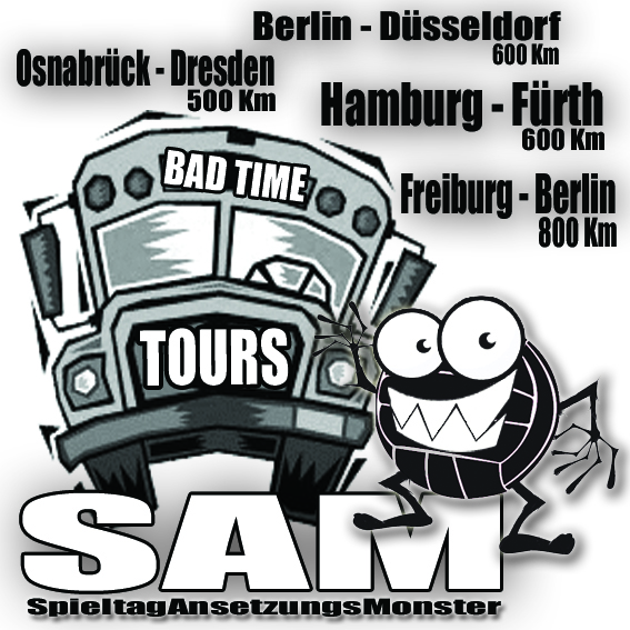 SpielAnsetzungsMonster auf Bad Time Tours